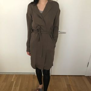 Kenneth Cole Black Label Silk Trench Coat XS